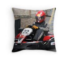 North East Air Ambulance Charity Go-Karting Throw Pillow