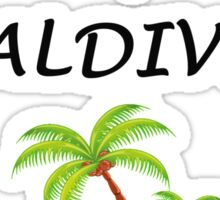I LOVE MALDIVES Sticker