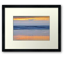 Sunset Colours on the Beach Framed Print