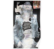 'Jesus saves' Poster