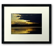 Sunset in Denmark Framed Print