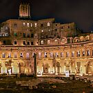 Foro Traiano at night by Roberto Bettacchi