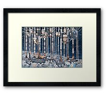 First snow in the Forest Framed Print