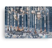 First snow in the Forest Metal Print