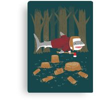 LumberJack Shark Canvas Print
