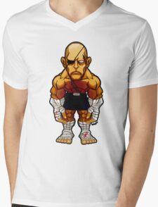 Sagat v.2 Mens V-Neck T-Shirt