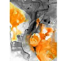 Orange Abstract Art - Iced Tangerine - By Sharon Cummings Photographic Print