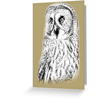Great Grey Owl Greeting Card