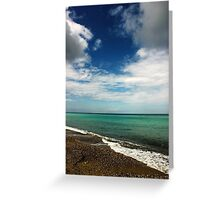 Blue and Green Sea View Greeting Card