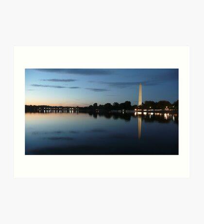 Sunset on the Washington Monument, Washington DC Art Print