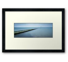 Blue, Blue Sea Framed Print
