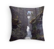 Athabasca Gorge (2) Throw Pillow