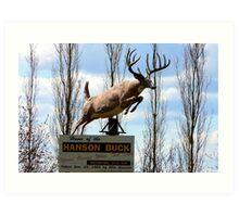 The Hanson Buck,Statue,Bigger,Sask,Canada Art Print