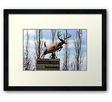 The Hanson Buck,Statue,Bigger,Sask,Canada Framed Print