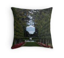 Pergola, Larnarch Castle-Dunedin-New Zealand Throw Pillow