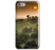 Full Moon Landscape at Sunset iPhone Case/Skin