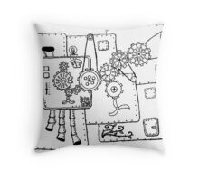 Baby's First Steampunk  Throw Pillow