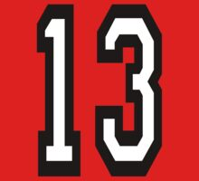 13, TEAM SPORTS, NUMBER 13, THIRTEEN, THIRTEENTH, ONE, THREE, Competition, Unlucky, Luck Kids Tee