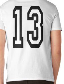 13, TEAM SPORTS, NUMBER 13, THIRTEEN, THIRTEENTH, ONE, THREE, Competition, Unlucky, Luck Mens V-Neck T-Shirt