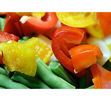 Capsicums & Green Beans Photographic Print