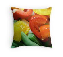 Capsicums & Green Beans Throw Pillow