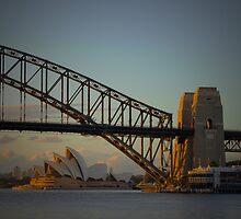 Golden Hour - Sydney Harbor Bridge by pnjmcc