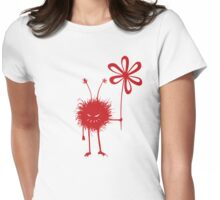 Evil Flower Bug Womens Fitted T-Shirt