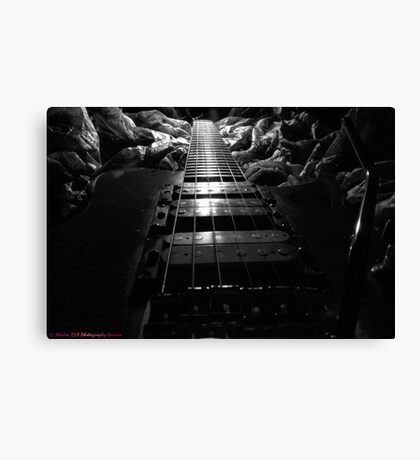 Blue and White Bullet Canvas Print
