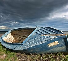 Blue Dinghy by Hans Kawitzki