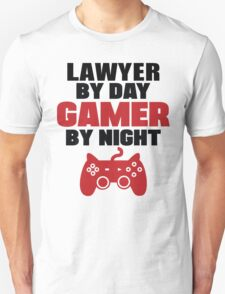Lawyer By Day Gamer By Night T-Shirt