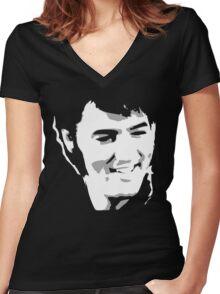 elvis Women's Fitted V-Neck T-Shirt