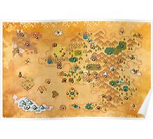 Pokemon Mystery Dungeon II/III - Map Poster