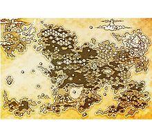 Pokemon Mystery Dungeon - Map Photographic Print