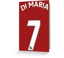 Di Maria Jersey t shirt, iphone case & more Greeting Card
