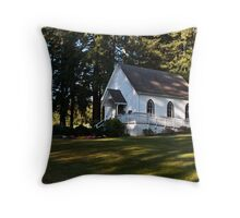 Baker Cabin Wedding Chappel Throw Pillow