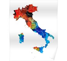 Italy - Italian Map By Sharon Cummings Poster