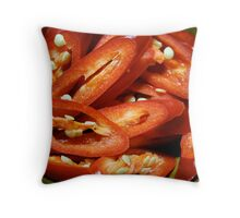 Red Chopped Chili Peppers Throw Pillow