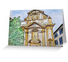 Baroque Milan Greeting Card