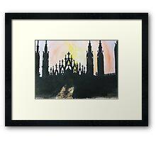Milano Sunset Framed Print