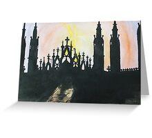 Milano Sunset Greeting Card