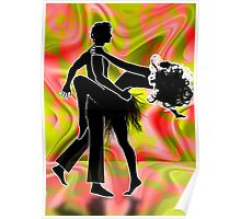 Psychedelic dancers. Poster