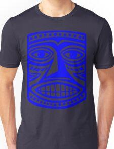 Tiki Mask II - Blue Unisex T-Shirt