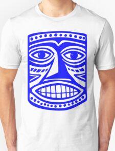 Tiki Mask II - Blue T-Shirt
