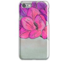 Hot Pink Freesia iPhone Case/Skin