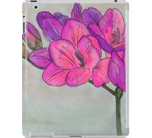 Hot Pink Freesia iPad Case/Skin
