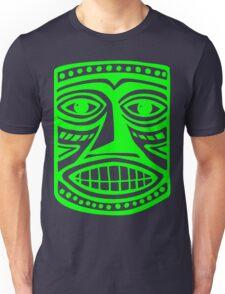 Tiki Mask II - Green Unisex T-Shirt