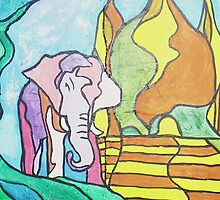 Pink Elephant-Larger by Loretta Nash