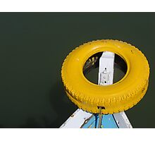 Yellow bow Photographic Print