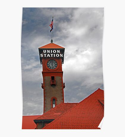 Clock Tower at the Union Station Poster
