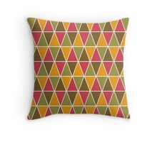 Nature's Colors Geometric Triangle Pattern Throw Pillow